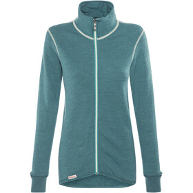 Woolpower Unisex 400 Full Zip Jacket Colour Collection petrol/champagne